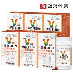 일양약품 종합 멀티 비타민 미네랄 프리미엄 6병 (360정)