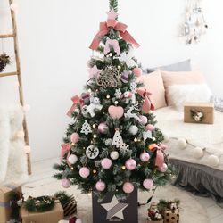 크리스마스트리 중대형트리 스칼렛핑크 1.6M 풀세트