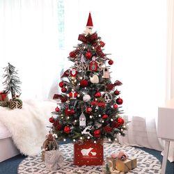 크리스마스트리 PE고급트리 중대형트리 트루디레드 1.6M 풀세트