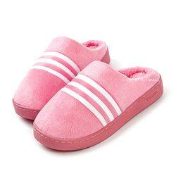 삼선 털슬리퍼-핑크