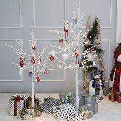 크리스마스 자작나무트리 LED 데코트리 화이트레드 1.2M 풀세트