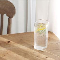 홈카페 사각 내열유리컵 (무지)