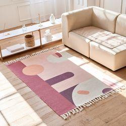 사계절 거실인테리어 북유럽 감성 디자인 코지 러그