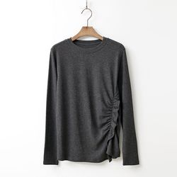 Angora Cotton Shirring Tee