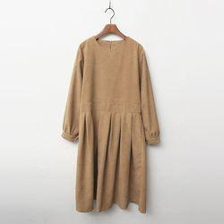 Warm Peach Fit N Flare Dress