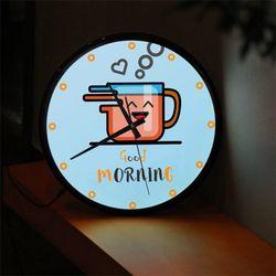 ng352-LED시계액자35R좋은아침모닝커피한잔