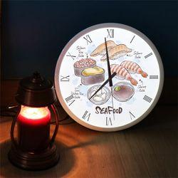 ng346-LED시계액자35R맛있는초밥일러스트