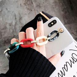 아이폰 se2 7 8 플러스 체인 스트랩 투명 젤리 케이스