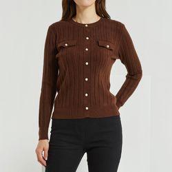 버튼 골지 스웨터 DAKL20NC4