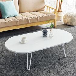 [UFO]하우스틸 제이드 1200 라운드 거실 소파 테이블