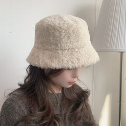 뽀글이 양털 버킷햇 겨울 벙거지 3color