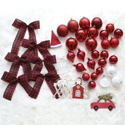 크리스마스트리 장식 에리카레드 장식세트