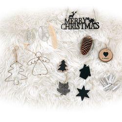 크리스마스트리 벽트리장식 모던 블랙 장식세트