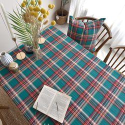 스너그 체크 식탁보 테이블보(2인)(110x110cm)