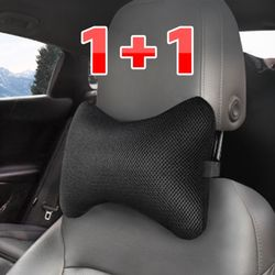 (PMC)시크릿 메쉬 버터플라이 차량용 목쿠션 2개입목배게