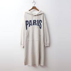 Gimo Paris Hood Basic Long Dress - 안감기모