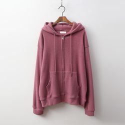 Gimo Hood Knit Zip-Up Sweatshirt - 안감기모