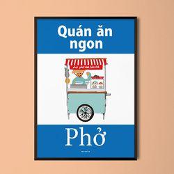 쌀국수 맛집 베트남 M 유니크 디자인 포스터 A3(중형)
