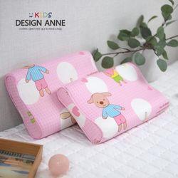 순면 앙팡 아동메모리폼베개-핑크