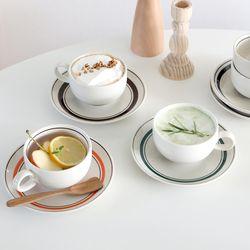 KANESUZU 카네수즈 홍차잔 세트 빈티지 커피잔