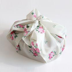 빈티지 꽃무늬 도시락 보자기 오일 크로스