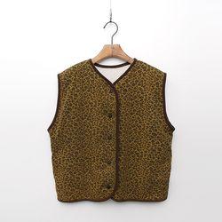 Leopard Reversible Vest - 덤블안감양면