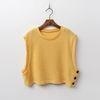 Wool Crop Knit Vest