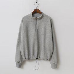 Gimo Turtle Crop Sweatshirt - 기모안감