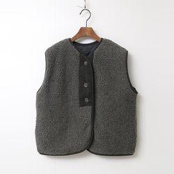 N Teddy Bear Vest - 누빔안감