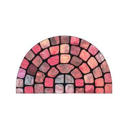 현관매트반원벽돌(PVC)