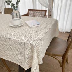 에밀리 스캘럽 레이스 식탁보 145x130cm