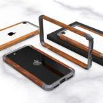 아이폰11 PRO SE2 XS 8 메탈 우드 프레임 범퍼 케이스
