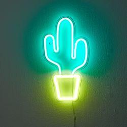 LED 네온사인 파티 무드등 선인장