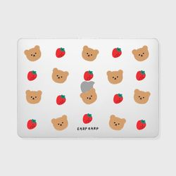 Dot strawberry bear(맥북-투명)
