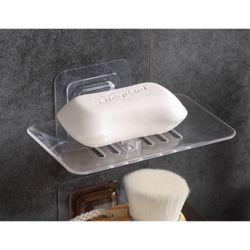 클리어 접착식 비누받침대(화이트)