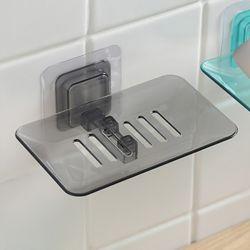 클리어 접착식 비누받침대(블랙)