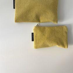 라임 골덴 파우치(Lime corduroy pouch)-S