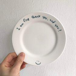 아임파인땡큐앤드유 접시