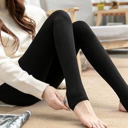슬림 유발 무발 살색 검정 겨울 기모 스타킹