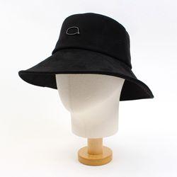 Black Suade Over Bucket Hat BK 오버버킷햇