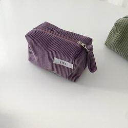 골덴 바이올렛 네모 파우치(Corduroy violet oblong pouch)