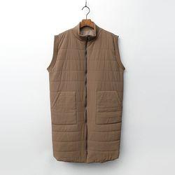 Cotton Padding Long Vest - 3온스