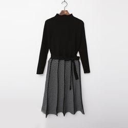 N Herringbone Knit Dress