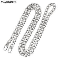 S033 통통한 실버커브체인 핸드백 토트백 짧은가방줄(40-60cm)