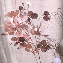 글로시 핑크 유칼립투스 크리스마스 조화(2colors)