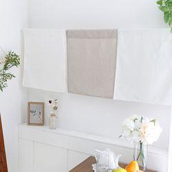 메리 체크 피스 창문주방 바란스 가리개 커튼 1장 -3color