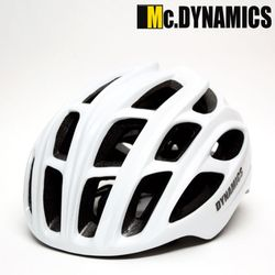 MC.DYNAMICS 인몰드 아시안핏 스톰 자전거헬멧화이트