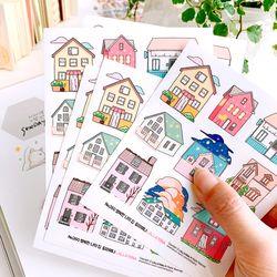 행복한 나의 집 다꾸 인스 인쇄소스티커 No.260