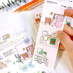 일상 일러스트 데코 스티커 ver.1 (3 Cut Sticker) 4매