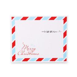 (인디고샵)심플 엽서 크리스마스 카드